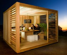 backyard get to gethers in this? Tiny House Cabin, Lounge Areas, Patio Design, Terrace Decor, House, Garden Room, Backyard Office, Contemporary Garden Rooms, Room