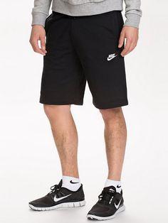 Nike Aw77 Ft Short - Nike Sportswear - Black White - Shorts - Kläder - 750c297f004ac