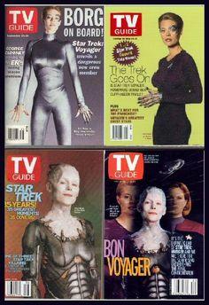 Star Trek TV Guide Covers Star Trek Characters, Star Trek Movies, Star Trek Tv Series, Star Trek Merchandise, Star Trek Captains, Tv Covers, Jeri Ryan, Star Trek Collectibles, Sci Fi Shows