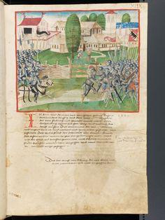 Bern, Burgerbibliothek, Mss.h.h.I.1, f. 99 – Diebold Schilling, Amtliche Berner Chronik, vol. 1