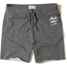 Hollister Beach Prep Fit Fleece Shorts (48 BRL) ❤ liked on Polyvore  featuring men's