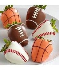more sports party fun food sports strawberries chocolate covered ...