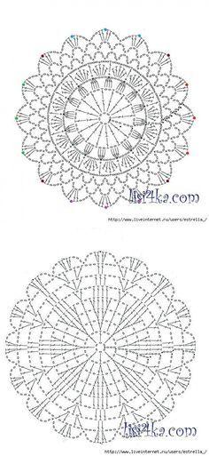 Crochet Circles, Crochet Mandala, Crochet Doilies, Crochet Flowers, Crochet Rug Patterns, Crochet Stitches, Knit Or Crochet, Beautiful Crochet, Crochet Projects