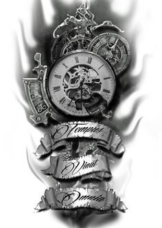 Time conquers all pocket watch tattoos, pocket watch tattoo design, clock tattoo sleeve, Forearm Tattoos, Body Art Tattoos, Tattoo Drawings, I Tattoo, Sleeve Tattoos, Tatoos, Tattoo Quotes, Death Tattoo, Sketch Tattoo