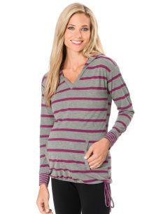 Motherhood Maternity Long Sleeve Jersey Knit Hooded Maternity Pull Over