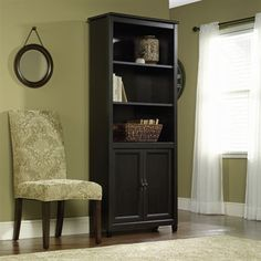 Sauder 409046 Edge Water Library with Doors