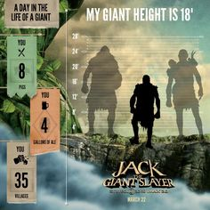 jhkjkMy Giant height is 18'! Find out your own Giant height, and be sure to catch Jack the Giant Slayer in theaters March 22nd. #JacktheGiantSlayer