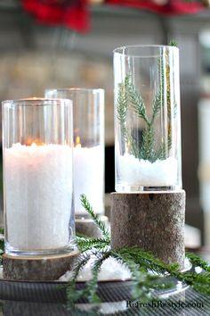 Dollar tree stump candleholders from refreshrestyle.com