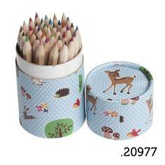 .20977 _ 36 lápis de cor bosque | 36 pencil tube wooland (altura|height 10cm) _ ♥ 5.00   www.atelierdatufi.com | info@atelierdatufi.com