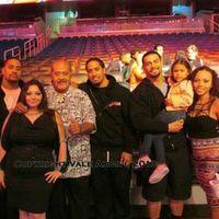 WWE Hall of Fame Superstar Afa Anoa'i with his daughter Vale Anoa'i, his great nephews Jon and Josh Fatu (The Usos), his nephew Joe Anoa'i (Roman Reigns), Joe's fiance Galina, and their daughter Joelle.