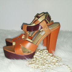 "SALE Lauren Conrad Coral Heels Vibrant Coral Chunky Lauren Conrad 5"" Heels Lauren Conrad  Shoes"