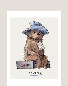 Goodbye - Paddington on Suitcase by Fred Banbery, from the Occasions range by Museums & Galleries