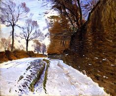 Country Road in Winter John Singer Sargent - circa 1891-1893