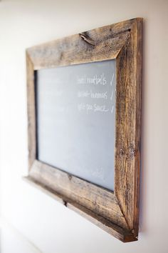 Reclaimed wood chalkboard purchased on Etsy! | pinchofyum.com