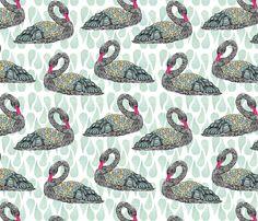 Black Swan fabric by sandeehjorth on Spoonflower - custom fabric