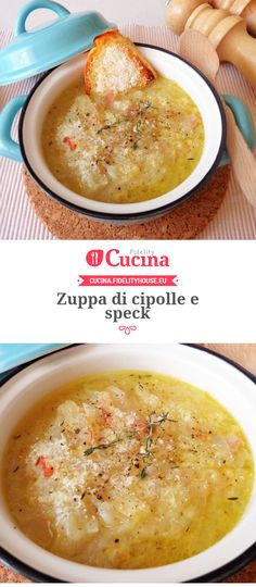 Onion and speck soup- Zuppa di cipolle e speck of is of our user Magdalena. Join our community and send your recipes! Veggie Recipes, Wine Recipes, Soup Recipes, Cooking Recipes, I Love Food, Good Food, Yummy Food, Italy Food, Daily Meals