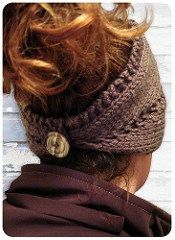 Convertible Centre Lace Row Headband / Neck Warmer by Rewind Knits