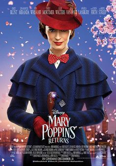 2018 MARY POPPINS RETURNS (Emily Blunt, Lin-Manuel Miranda, Ben Whishaw, Emily Mortimer) Decades after her original visit, the magical nanny returns to help the Banks siblings and Michael's children through a difficult time in their lives. Netflix Movies For Kids, Family Movies, Movies To Watch, Movies Online, Funny Family, Disney Movies, Ben Whishaw, Disney Magic, Walt Disney