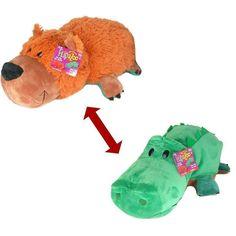 3fbfa720cba6 Flip A Zoo GRIZZLY BEAR + ALLIGATOR 2-in-1 Stuffed 16