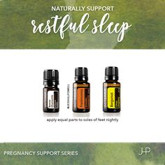 Pregnancy Support Series: Restful Sleep. Apply equal parts of this blend to the soles of feet nightly. Thank me in the morning. #essentialoils #naturalremedy #naturalpregnancy #naturalbirth #healthy #doterra #jesshillpowell #flourish