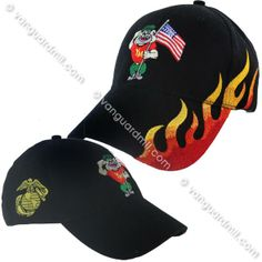 Young Marine's Ball Cap: Black with Chester