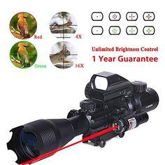 WhaleStone Tactical Rifle Scope for AR15 4-16x50EG Dual I...