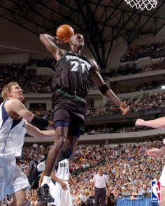 36998a708 Kevin Garnett rises high for a dunk during Game 1 of the Western Conference  Quarterfinals On April 2002 against the Dallas Mavericks.
