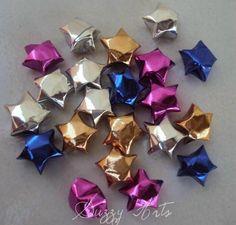 Estrelinhas Origami - Papel Metalizado