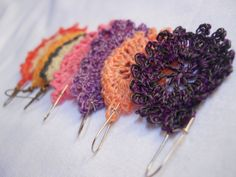 This is the third batch of earrings I made for my 30-Minute Earrings to Crochet Series.