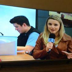 Entrevista de @juliaooliveira_sc para a RBS TV no jornal do almoço de hoje! #umanodemim #atitude #inspire #entrevista #rbstv #globo