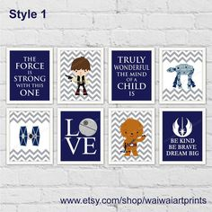 Star Wars Boy Nursery Decor. Baby Jedi Decor. The Force Is