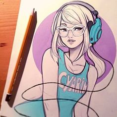 Laura Brouwers @cyarine Headphone Girl....Instagram photo | Websta (Webstagram)