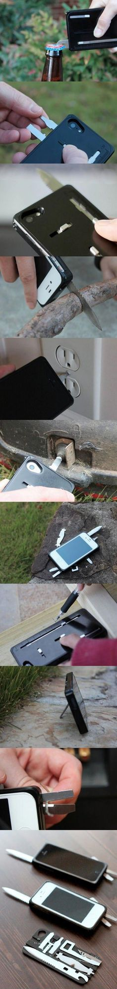Swiss Army Knife iPhone Case - this is crazy smart! Perfect for #travel!