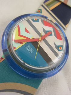 PWK177 Swatch 1993 Matin A Tanger Pop Colorful Artistic #Swatch #Fashion