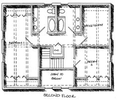 Timber frame cape cod house plan has front and back shed dormers