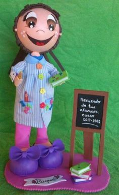 Muñeca fofucha maestra personalizada