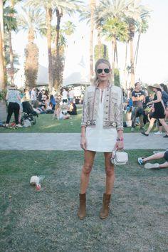 Kate Bosworth in an Etro jacket killing it again at Coachella #festivalfashion