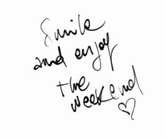 Happy Saturday! Hope you all have a great weekend!