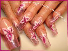 Clear Nails in pink by vipnailsmonika - Nail Art Gallery nailartgallery.nailsmag.com by Nails Magazine www.nailsmag.com #nailart