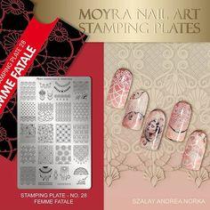 Moyra stamping plate No. Stamping Plates, Nail Stamping, Gel Nails, Nail Polish, Manicures, Press On Nails, Gorgeous Nails, Design Art, Nail Designs