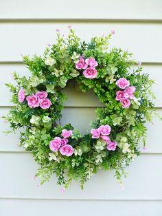 Greenery Wreath Spring Wreath Summer Door Decorations Summer Wreath Front Door Decorations front door wreaths Spring Door Decorations