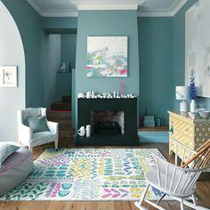 Lola Rug (Bluebellgray), a 100% wool hand-tufted multi-coloured rug http://www.therugswarehouse.co.uk/lola-rug.html #rugs #interiors #luxury