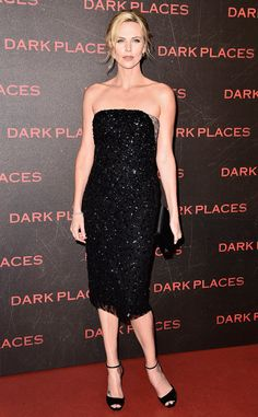Charlize Theron from The Best of the Red Carpet  Whew! The Dior darling stuns in a crystal embellished midi by the famed designer at the Dark Places premiere in Paris.