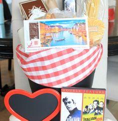 """The Italian Job"" Valentine's Day gift basket"