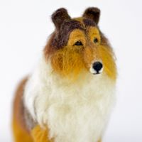 Allie the dog needle felted Rough Collie © Olga Timofeevski