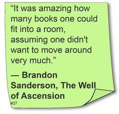 Brandon Sanderson - #Quote #Reading #Humor