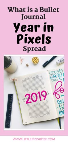A year in pixels spread is the ultimate mood tracker for your bullet journal. Find out how to create one here. Bullet Journal Year In Pixels, Making A Bullet Journal, Bullet Journal Contents, Bullet Journal How To Start A, Bullet Journal Layout, Bullet Journal Inspiration, Bullet Journals, Journal Ideas, Sticker Organization