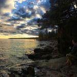 Lake Superior at dusk - Minnesota