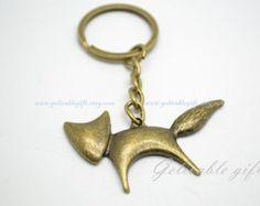 Anime Inuyasha Fox Shippou keychain, Fox key ring KAI01