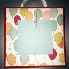 Colored Stretched Canvas 8X8 red/aqua/multi-colored balloons